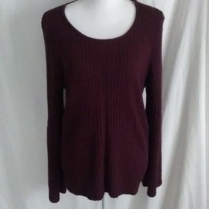 Westbound Bell sleeve Maroon Sweater